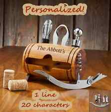 PERSONALIZED WINE BARREL ACCESSORY KIT - BAR ACCESSORY KIT - GREAT GIFT IDEA!