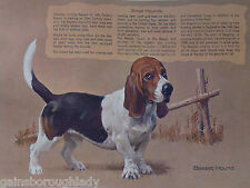 BASSET Hound Bob KUHN HUNTING DOG PRINT ~ REMINGTON