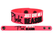 PINK Rubber Bracelet Wristband The Truth About Love Just Give Me A Reason