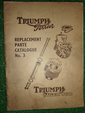 TRIUMPH T15 TERRIER & T20 TIGER CUB OEM ILLUSTRATED SPARE PARTS MANUAL #3 1956