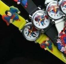 Ideal Birthday Present.Superman boys and girls Wrist Watch Yellow Strap.