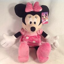 """DISNEY MINNIE MOUSE PLUSH LARGE 21"""" WITH TAGS! PINK & WHITE POLKA DOTS DISNEY JR"""