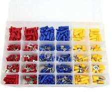 480Pcs ASSORTED INSULATED TERMINALS CRIMP CONNECTORS  ELECTRICAL WIRE SPADE SET