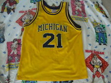 Vintage 90s Ray Jackson Michigan Wolverines FAB FIVE College Basketball Jersey L