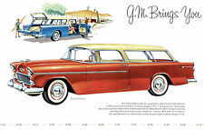 1955 Chevrolet nomad Dealer Showroom Wall Giclee prints 11 x 17
