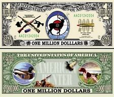 LA CHASSE BILLET MILLION DOLLAR US ! Collection Sport Chien d'Arrêt Canard Cible
