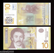 Serbia 10 Dinara 2006 P-46 Mint UNC Uncirculated Banknotes Consecutive Numbers