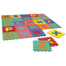 Charles Bentley Children's Soft Eva Foam Alphabet Interlocking Play Mats