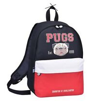 DAVID AND GOLIATH - PUGS SCHOOL BACKPACK - BLACK/WHITE & RED