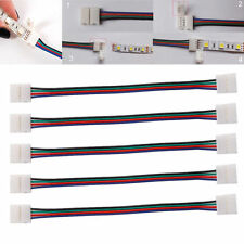 5x RGB LED Strip Schnell Verbinder Kabel Adapter 4 Pin 5050 Stecker Licht Leiste