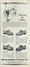 1952 Abercrombie & Fitch Women Fashion Golfing Shoes PRINT AD