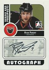 (HCW) 2008-09 ITG Heroes and Prospects RYAN PARENT Auto Autographs 00551