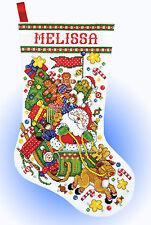 Cross Stitch Kit ~ Design Works Santa's Express Sled Christmas Stocking #DW5951