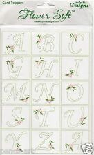 Flower Soft Alphabet Card Toppers craft Katy Sue Designs Spelling Name Cards