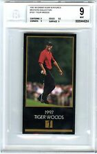 TIGER WOODS~1997 GRAND SLAM VENTURES MASTERS BGS-9 MINT GOLD FOIL ROOKIE RC CARD