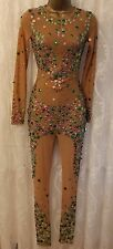 ASOS Illusion Candy Sequins Unitard Party Dance Dress 6 38