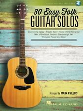 30 Easy Folk Guitar Solos Sheet Music Guitar Solo Book Audio Online 000158098
