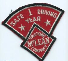 McLean Trucking Company 1 year safe driving driver patch 3-1/2 X 3-3/4