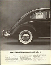 1964-Vintage Ad for Volkswagen`Black, for sale sign, window