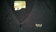 Toddland mustache cardigan sweater Blue size xl