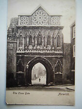 The Close Gate Norwich Norfolk Old Postcard