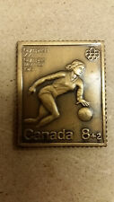 1976 Montreal Olympics  Bronze Stamp, BasketBall, Canada Post, No Box