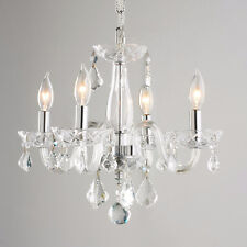 USA BRAND SALE Clarion Venetian 4 Light Clear Crystal Mini Small Chandelier 16""