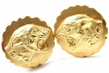 Rare! Authentic Van Cleef & Arpels 18k Yellow Gold Panther Cufflinks