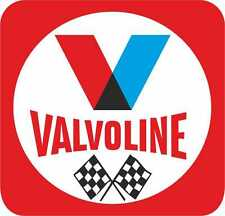 Classic 70's Valvoline Oil with Flags Exterior Vinyl Motorbike Decals x2