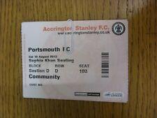10/08/2013 BIGLIETTO: Accrington Stanley V Portsmouth. grazie per la visualizzazione di questa IT
