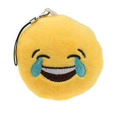 Cute Emoji Smiley Emoticon Laugh To Tears Key Chain Soft Toy Gift Pendant Bag C1