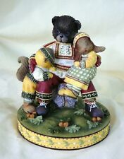 "Woodsong - Generations by DEMDACO 2002, cast resin hand painted 4 3/4"" New"