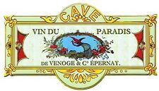 French Advertising Metal Wine Cellar Cave Sign Vino Vin