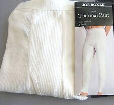 Mens Thermal Underwear Pants Joe Boxer XL Ivory USA Seller Long Johns W40-43 L43