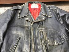 Vintage 1950s Sears Motorcycle Horsehide Leather Jacket D Pocket