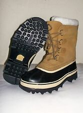 NEW Women's SOREL Caribou Waterproof WINTER Snow Duck BOOTS Tan BUFF 8.5 EU 39.5