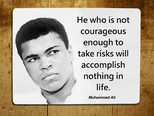 Muhammad Ali inspirational quote decorative metal sign tin wall door plaque