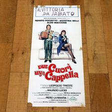 DUE CUORI UNA CAPPELLA locandina poster Renato Pozzetto Agostina Belli Maccione