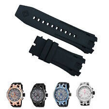 New Black Silicone Rubber Watch Band Strap For Invicta S1 Rally Chronograph
