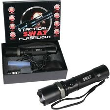 SWAT XM-L T6 3W CREE 120 Lumens Rechargeable LED Flashlight Battery + Chargers