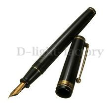 Rare Vintage Wing Sung 590 Fountain Pen 1990s Black and Golden Trim Pens