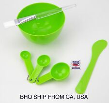 4 in 1 Facial Mask Bowl Brush Spoon Stick Face Skin Care Tool (Green)