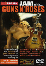Lick Library JAM WITH Slash and GUNS N' ROSES Guitar Lessons Video 2-DVDs + CD