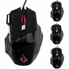 New 5500 DPI 7 Buttons LED USB Optical Wired Gaming Mouse For Pro Gamer D~