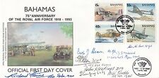 Bahamas  75th Anniversary of the RAF Miniature Sheet Signed 8 WW11 Pilots