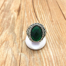 Vintage Jewelry 316L Stainless Steel Fashion Design Green Ring US Size 11 S11W11