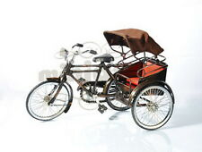 Trishaw MINIATURE BICYCLE  Bike Pedicab of Medan Sumatran with Cap Handmade