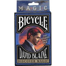 DISCOVER MAGIC BICYCLE STRIPPER DECK OF PLAYING CARDS BY DAVID BLAINE TRICKS