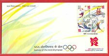 INDIA FDC # 2766-69-B XXX Olympic Games Sports London 2012