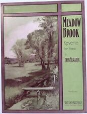 """SHEET MUSIC STORE POSTER """"MEADOW BROOK REVERIE"""" ADVERTISING LARGE FORMAT"""